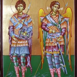 Icoana Sf Mc Gheorghe si Sf Arh Mihail