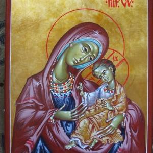 Icoana Maica Domnului cu Pruncul Protectoare