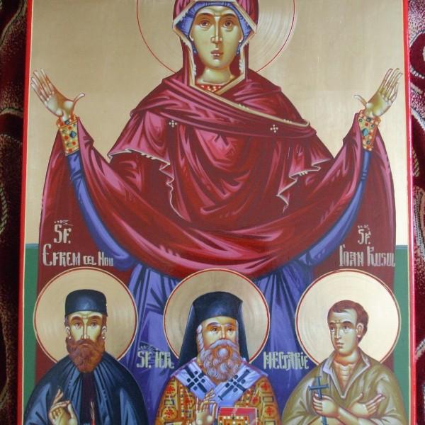 Icoana Maica Domnului ornata cu Sfintii