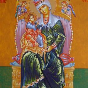 Icoana Maica Domnului cu Pruncul si Sf Arhangeli