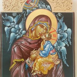 Icoana Maica Domnului cu Pruncul si cu Ingerii