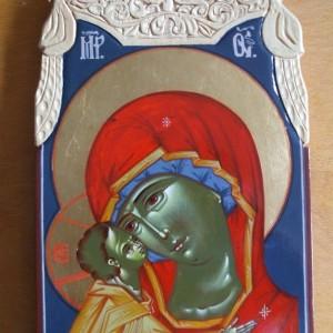 Icoana Maica Domnului cu Pruncul (pictura ruseasca)