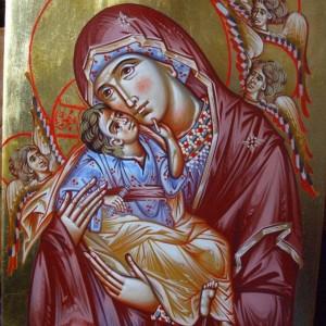 Icoana Maica Domnului cu Ingerii