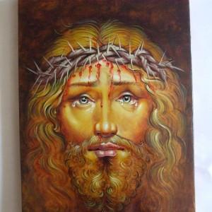 Icoana Iisus Hristos cu spini