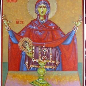 Icoana Maica domnului oranta a Sf Euharisti