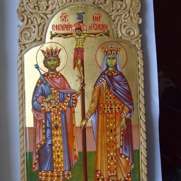 Icoana Sf Imp Constantin si Elena